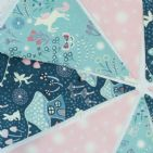 Unicorn and Fairies Glow in the Dark Cotton Bunting - 9 Flags (Price inc P&)